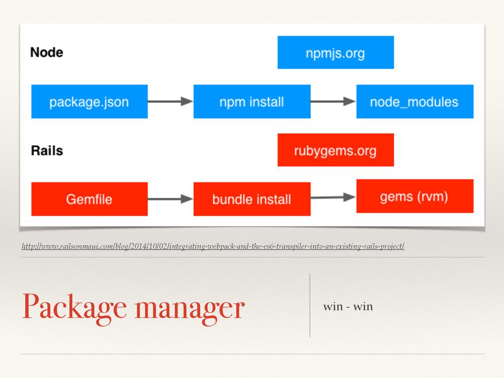 Package manager win - win http://www.railsonmau...