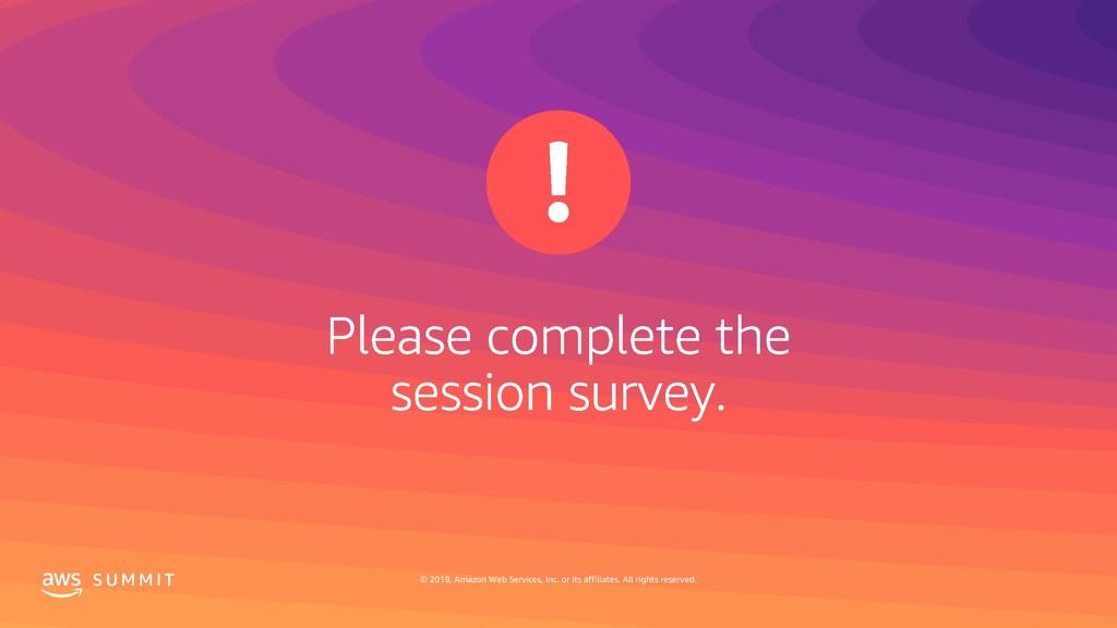 S U M M I T © 2019, Amazon Web Services, Inc. o...