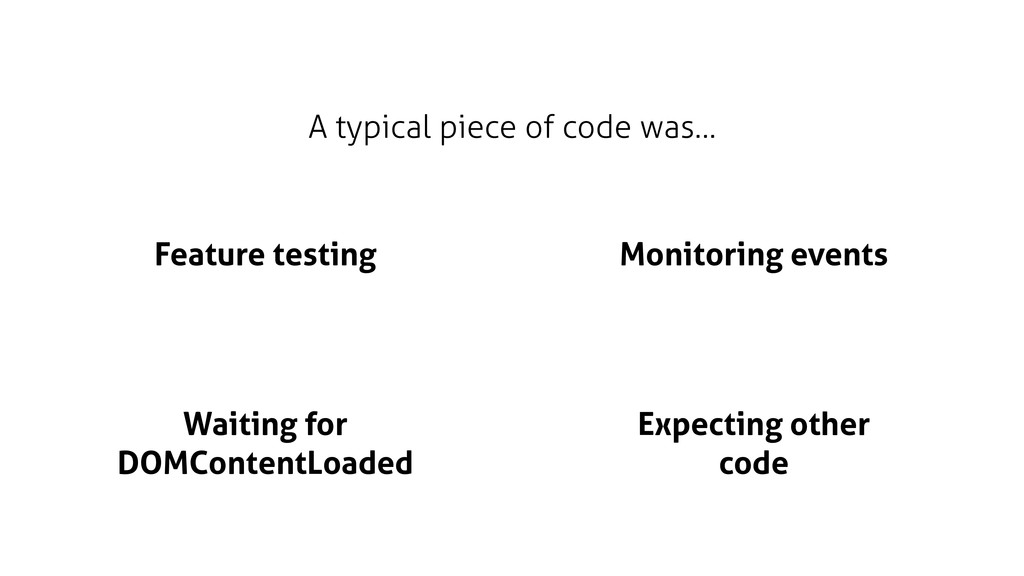 A typical piece of code was… Feature testing Wa...