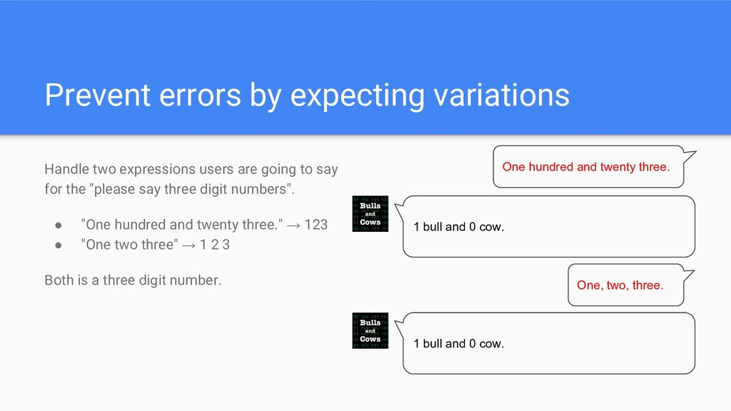 Prevent errors by expecting variations Handle t...