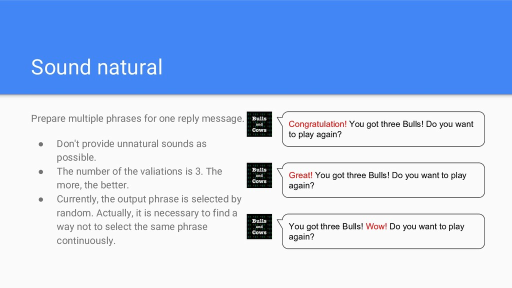 Sound natural Prepare multiple phrases for one ...