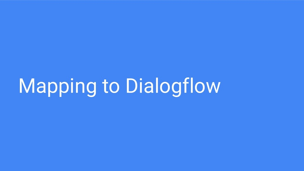 Mapping to Dialogflow