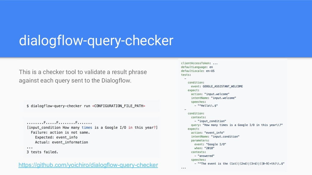 dialogflow-query-checker This is a checker tool...