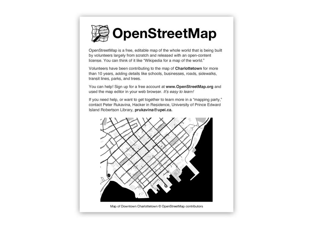 OpenStreetMap OpenStreetMap is a free, editable...
