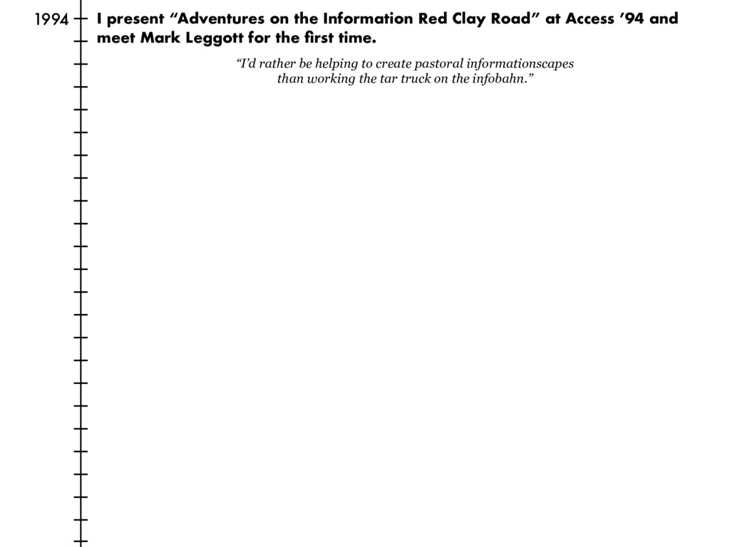 "1994 I present ""Adventures on the Information R..."