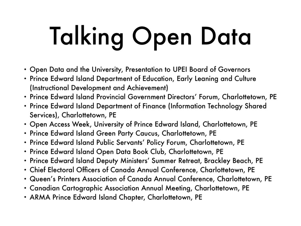 Talking Open Data • Open Data and the Universit...
