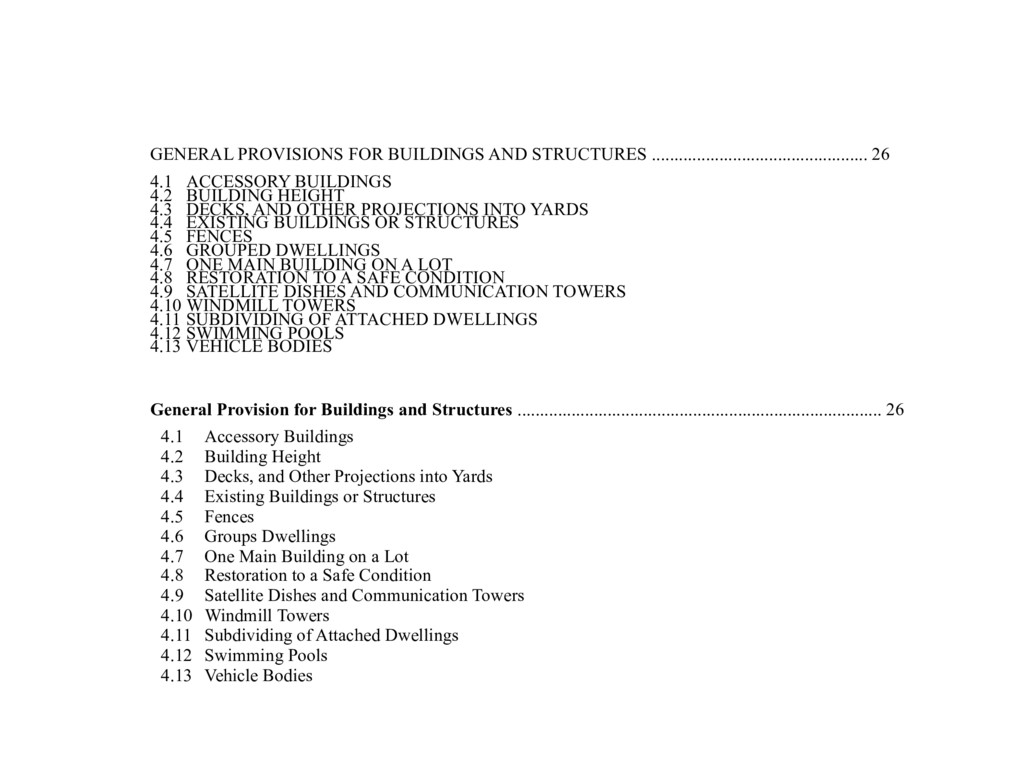 GENERAL PROVISIONS FOR BUILDINGS AND STRUCTURES...