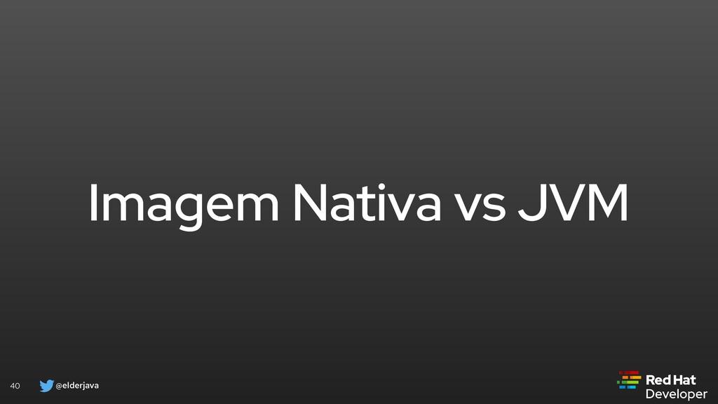 @elderjava 40 Imagem Nativa vs JVM