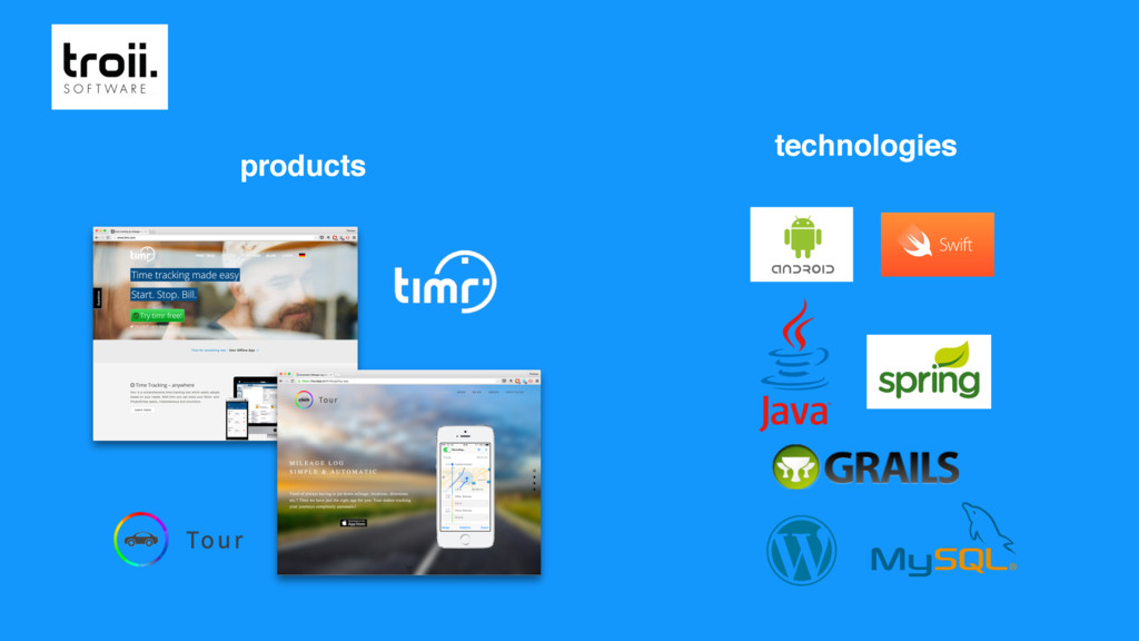 products technologies