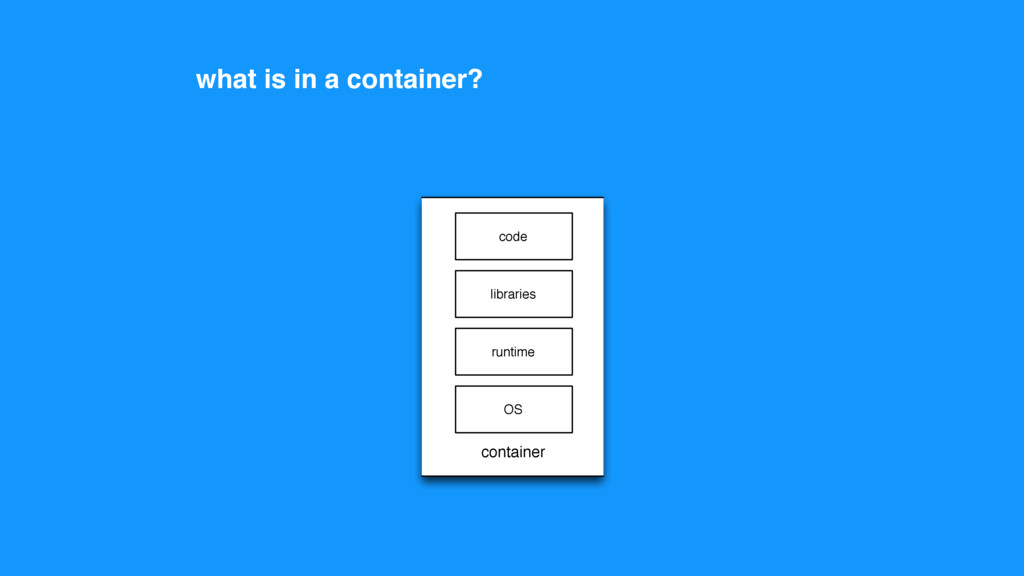 code runtime libraries OS container what is in ...