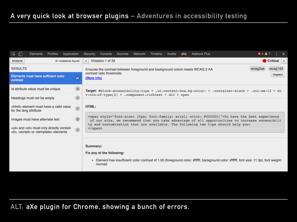 ALT: A very quick look at browser plugins – Adv...