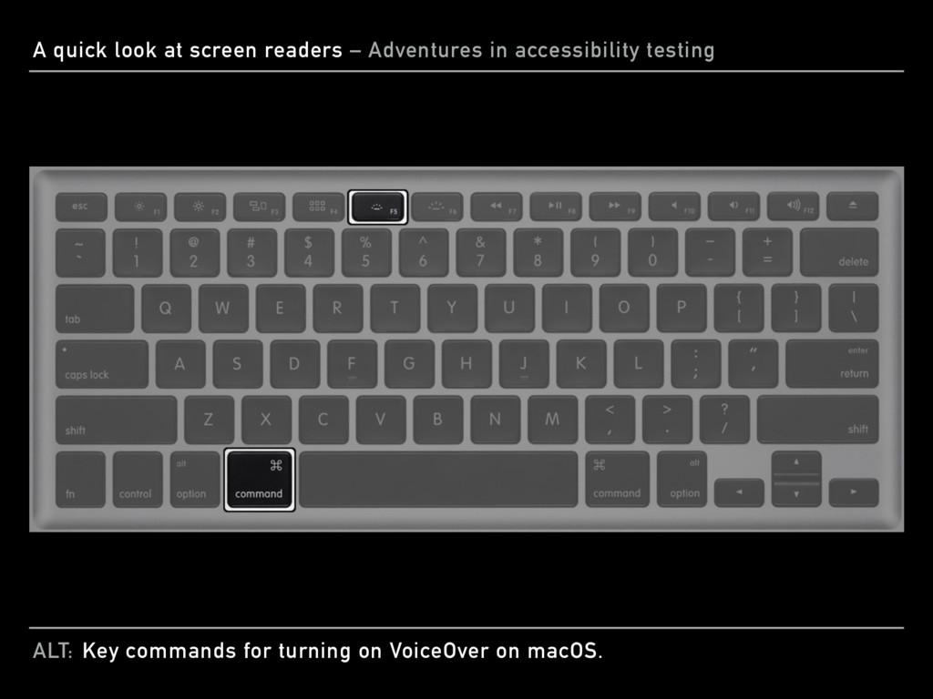 ALT: A quick look at screen readers – Adventure...