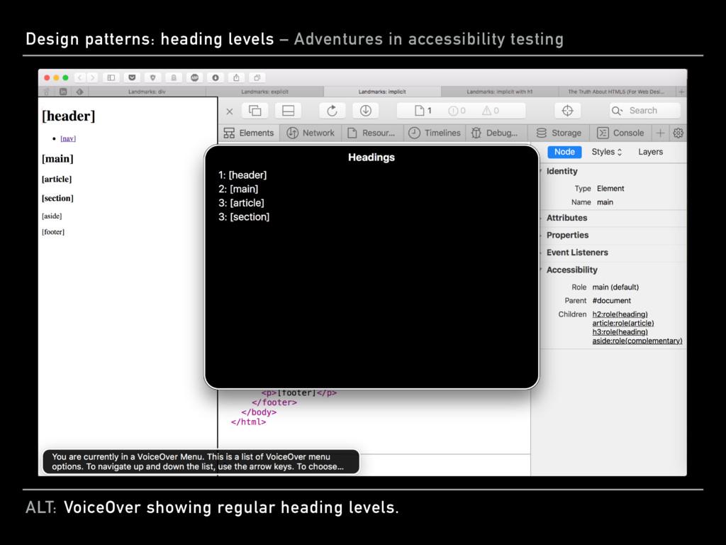 ALT: Design patterns: heading levels – Adventur...