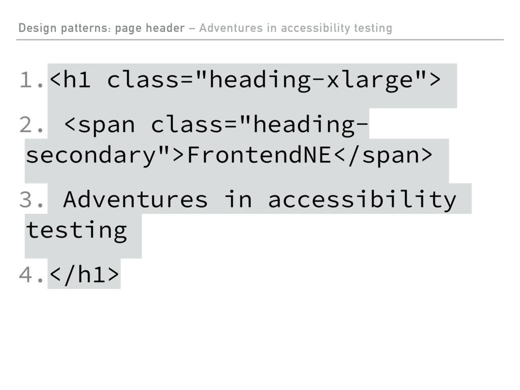Design patterns: page header – Adventures in ac...