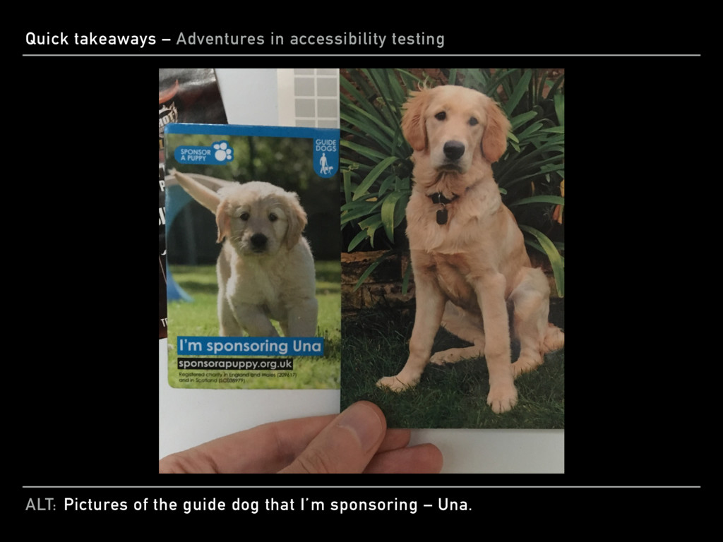 ALT: Quick takeaways – Adventures in accessibil...