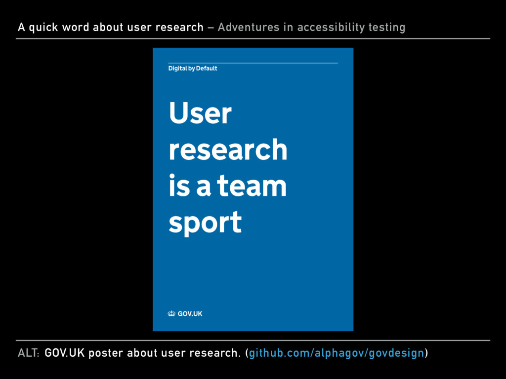 ALT: A quick word about user research – Adventu...
