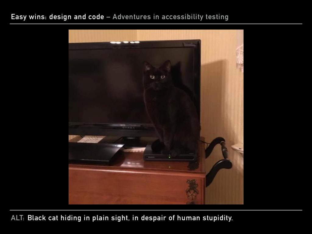 ALT: Easy wins: design and code – Adventures in...