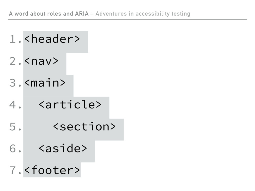 A word about roles and ARIA – Adventures in acc...