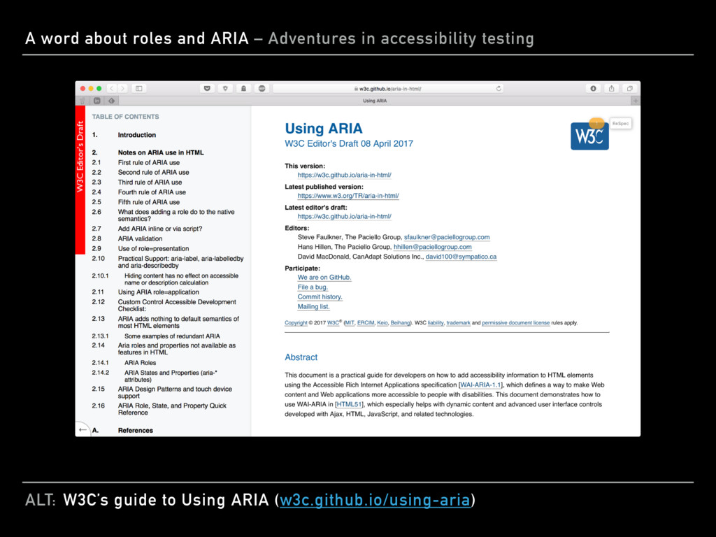 ALT: A word about roles and ARIA – Adventures i...