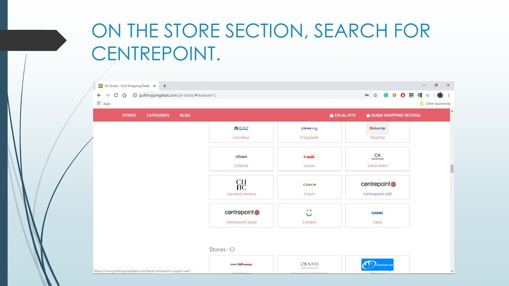 ON THE STORE SECTION, SEARCH FOR CENTREPOINT.