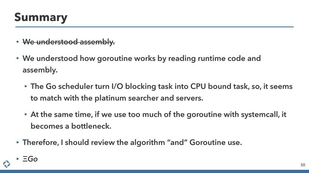 • We understood assembly. • We understood how g...