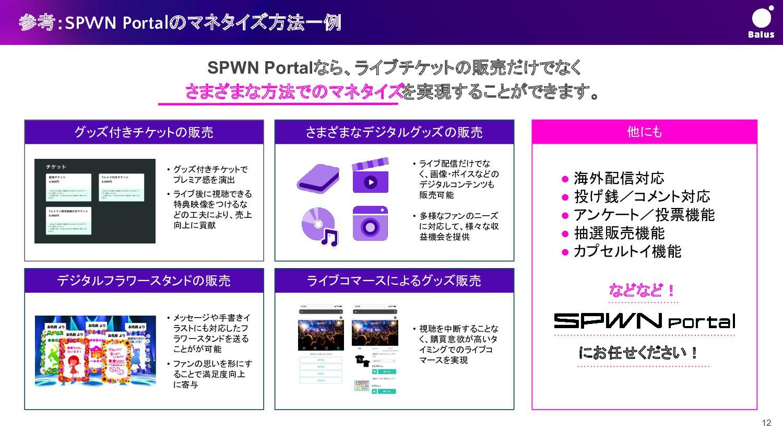創る、届ける:SPWN Stage 今後の挑戦 <バーチャルライブをもっと簡単に>  ●...