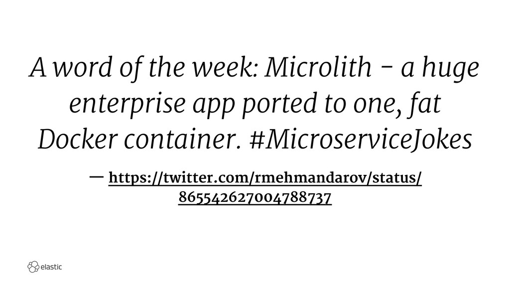 A word of the week: Microlith - a huge enterpri...