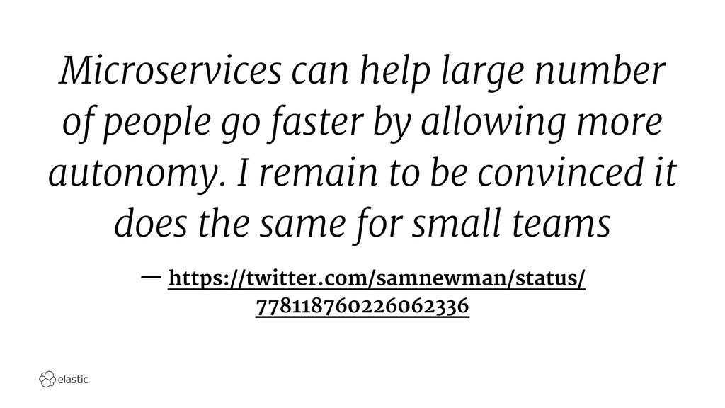 Microservices can help large number of people g...