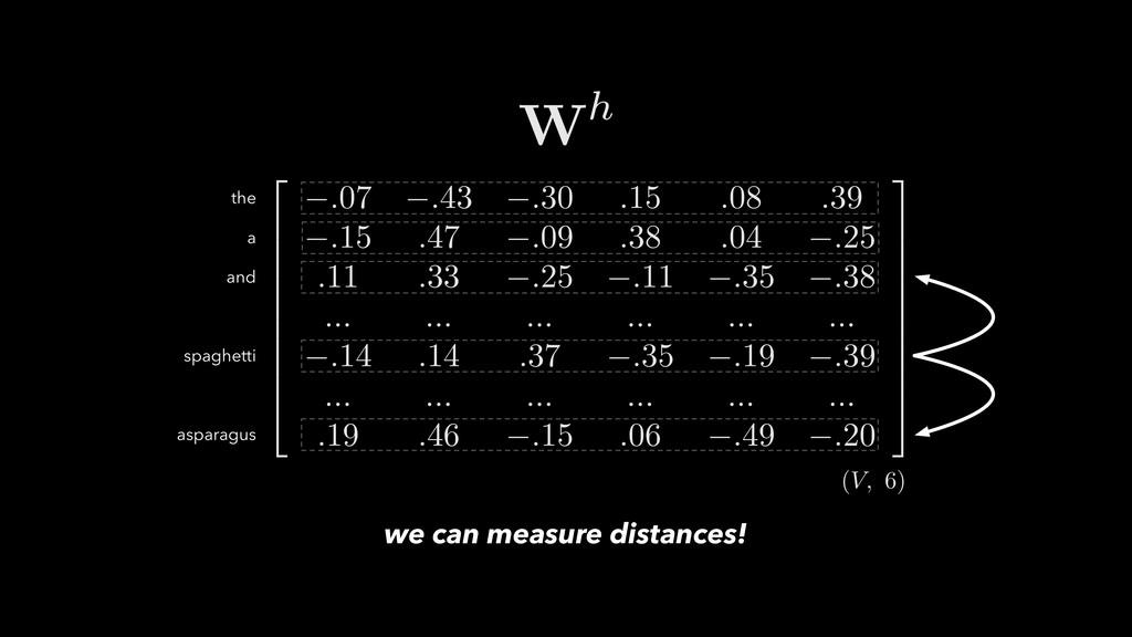 we can measure distances!