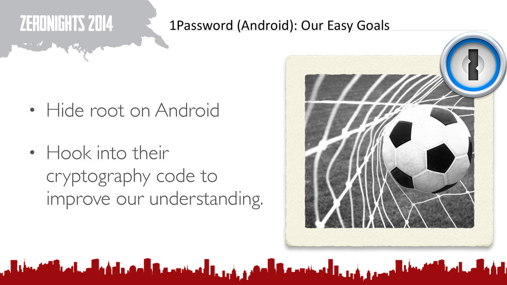 1Password (Android): Our Easy Goals...