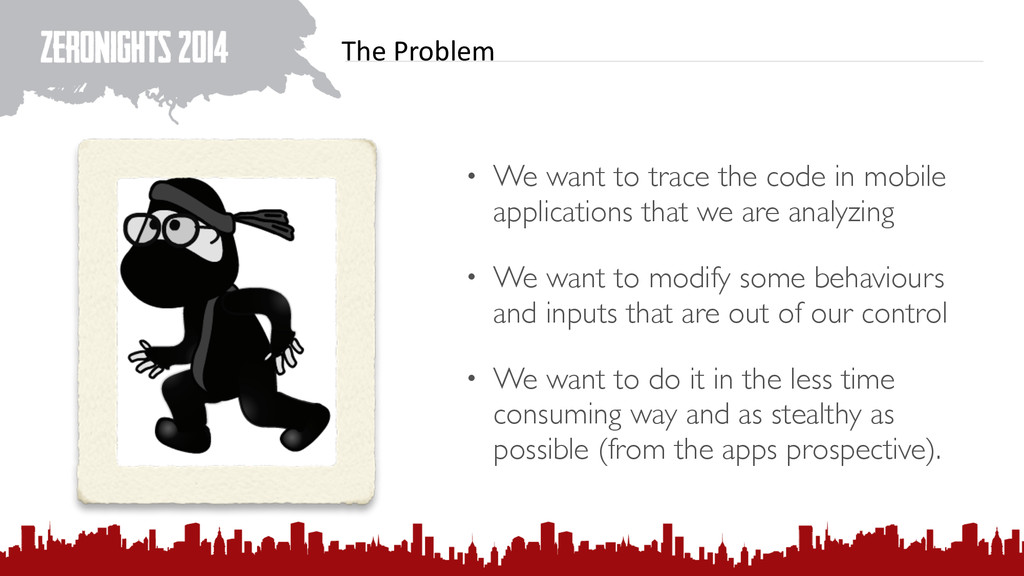 The Problem • We want to trace the code in m...