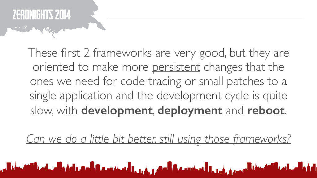 These first 2 frameworks are very good, but they...