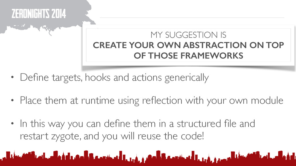 MY SUGGESTION IS CREATE YOUR OWN ABSTRACTION ON...