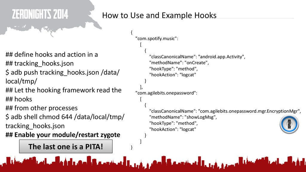 How to Use and Example Hooks {...