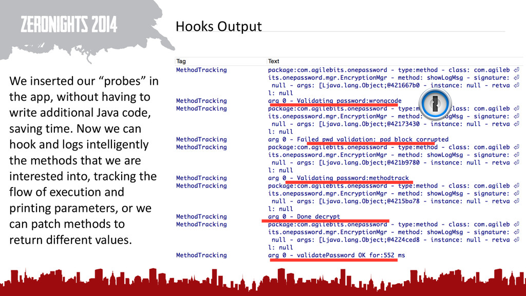 """Hooks Output We inserted our """"probe..."""