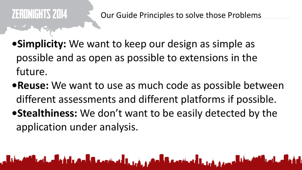 Our Guide Principles to solve th...