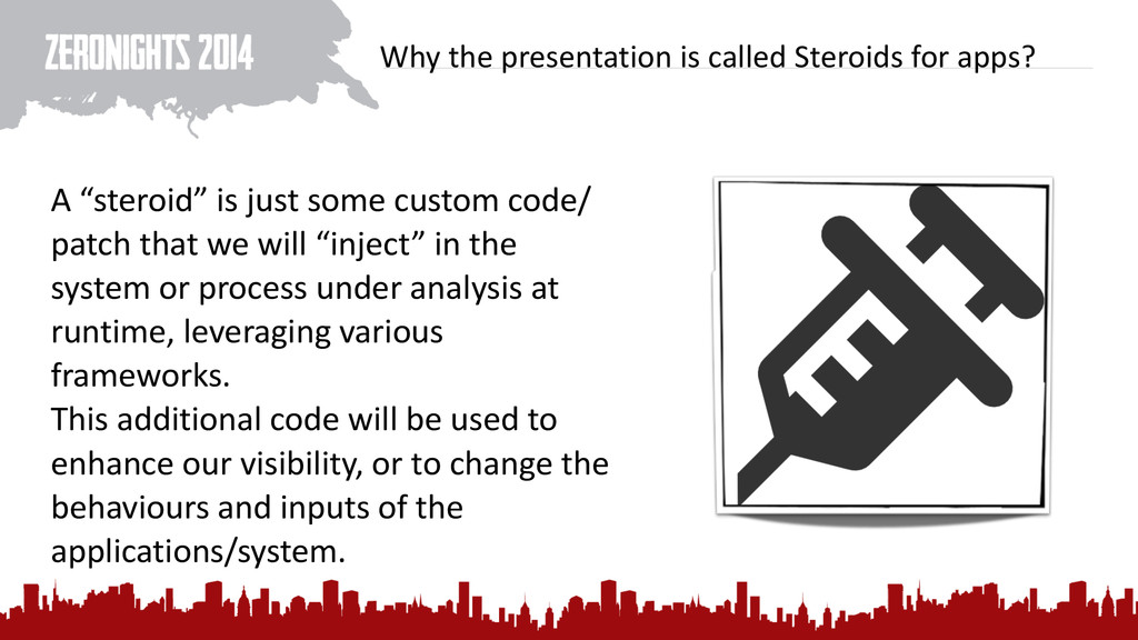 Why the presentation is called S...