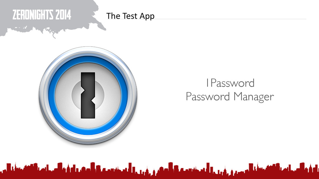 The Test App 1Password Password Manager