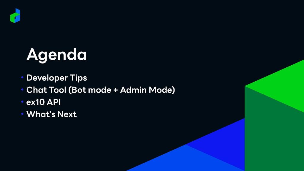• Developer Tips • Chat Tool (Bot mode + Admin ...