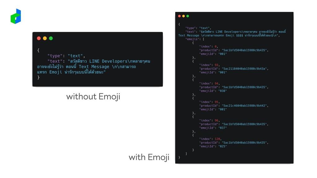 without Emoji with Emoji