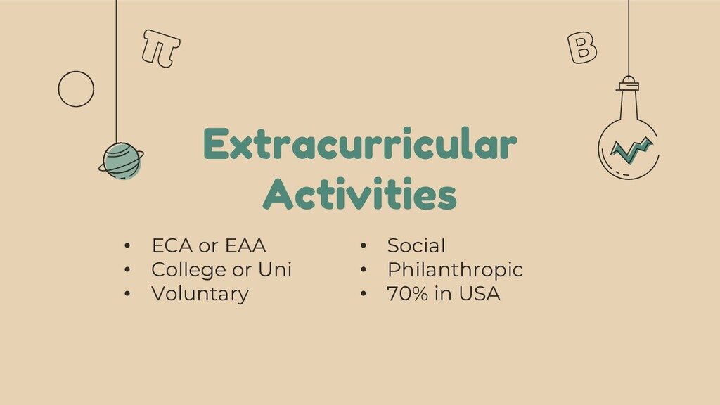 Extracurricular Activities • ECA or EAA • Colle...