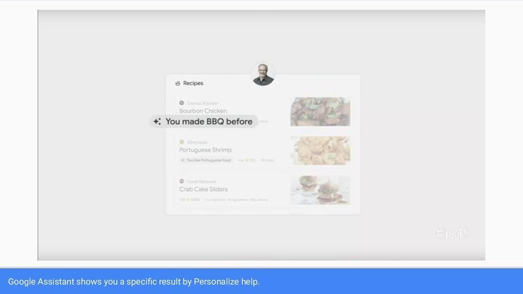 Google Assistant shows you a specific result by ...