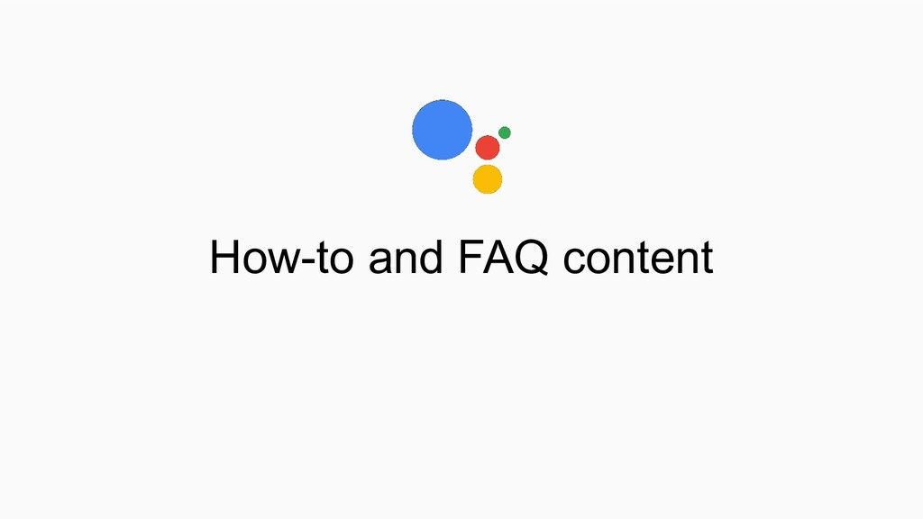 How-to and FAQ content