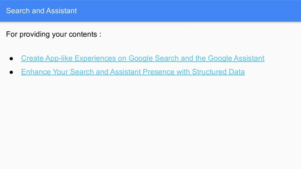 Search and Assistant For providing your content...