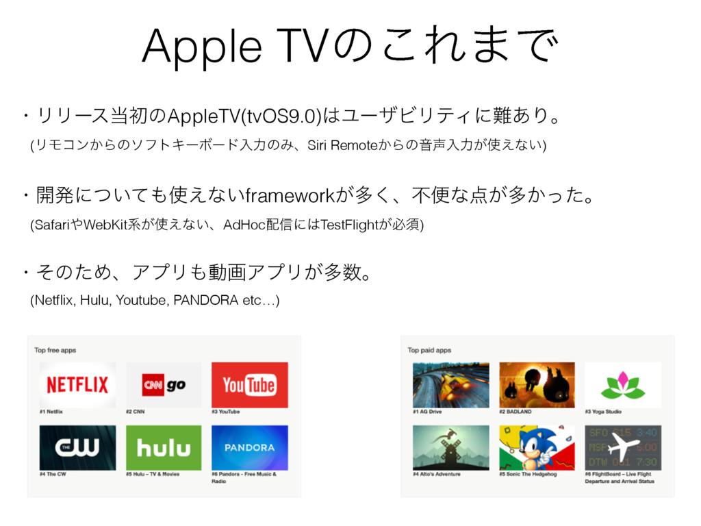 Apple TVͷ͜Ε·Ͱ ɾϦϦʔεॳͷAppleTV(tvOS9.0)ϢʔβϏϦςΟʹ...