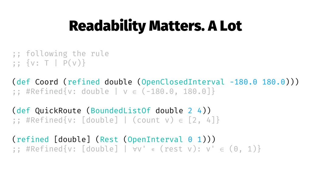 Readability Matters. A Lot ;; following the rul...