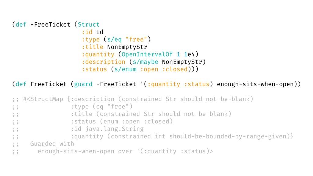 """(def -FreeTicket (Struct :id Id :type (s/eq """"fr..."""