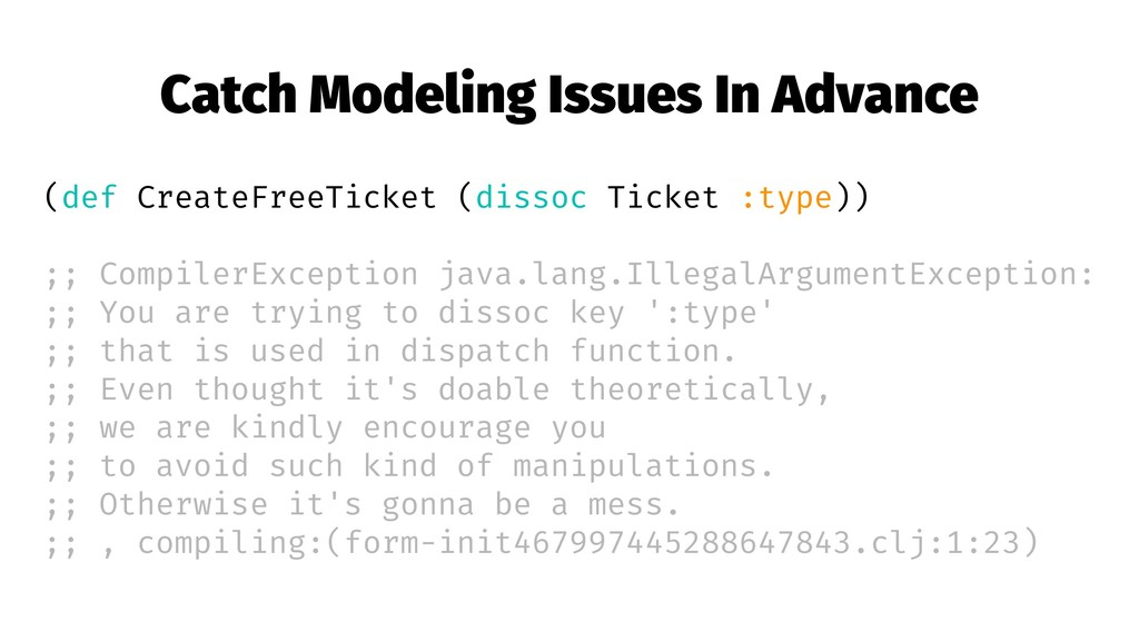 Catch Modeling Issues In Advance (def CreateFre...
