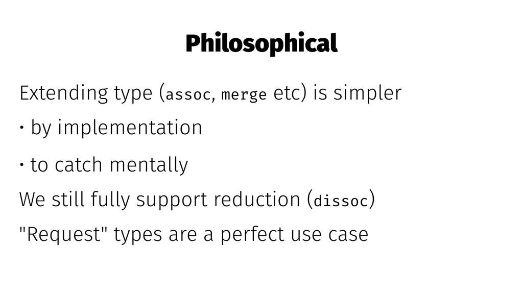 Philosophical Extending type (assoc, merge etc)...